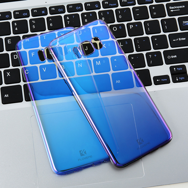 Ultra Thin Gradient Blue Ray Phone Case