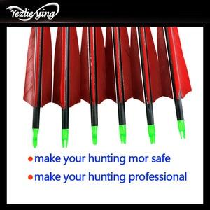 Image 3 - 6 個クロスボウ狩猟 30 インチSpine500 カーボン矢印赤トルコ真の羽反らすの弓の狩猟アーチェリー