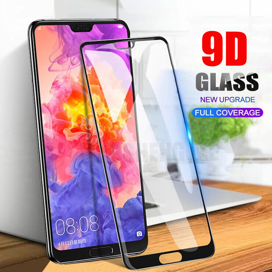 New 9D Tempered Glass For Huawei P20 Pro Lite P30 Full Cover Screen Protector Tempered Glass For Huawei P20 P30 Lite Glass Film