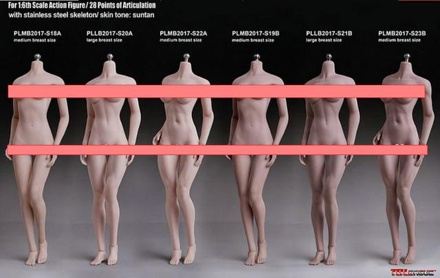 "TBLeague PHICEN 1/6 S18A S19B S20A S21B S22A S23B  Super-Flexible Seamless Female Figure S-L Bust SUNTAN 12"" Action Figure  Toys"