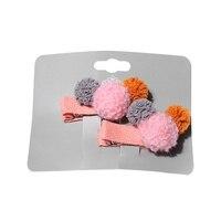 Girls Pin Cartoon Small Hair Candy Color Ball Children's Duckbill Clips Hair Pins Girl Bangs Clip Card Hair Accessories