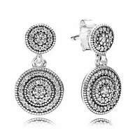 New 925 Sterling Silver Earring Radiant Elegance With Crystal Hanging Earrings For Women For Women Wedding