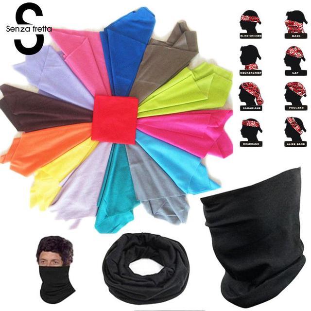 Senza Fretta Bandana Face Mask Multi Scarf Tube Mask Cap Scarves Absorbing Riding Supplies Magic Scarf Tube Neck Face D01808