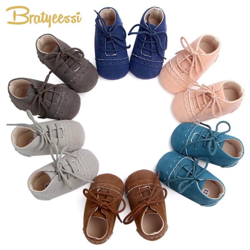 Fashion Autumn Baby Shoes for Girls Nubuck Leather Baby Moccasins Toddler Shoes Solid Color Lace-Up First Walker Baby Girl Shoes new genuine leather handmade leopard toddler baby moccasins girls kids ballet shoes first walker toddler soft dress shoes