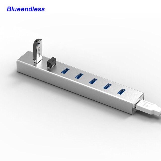 Универсальный Компьютер Высокоскоростной свет 7 в 1 USB 3.0 Концентраторы 7 Портовый USB-КОНЦЕНТРАТОР для Ipad/APP/Mac смартфон