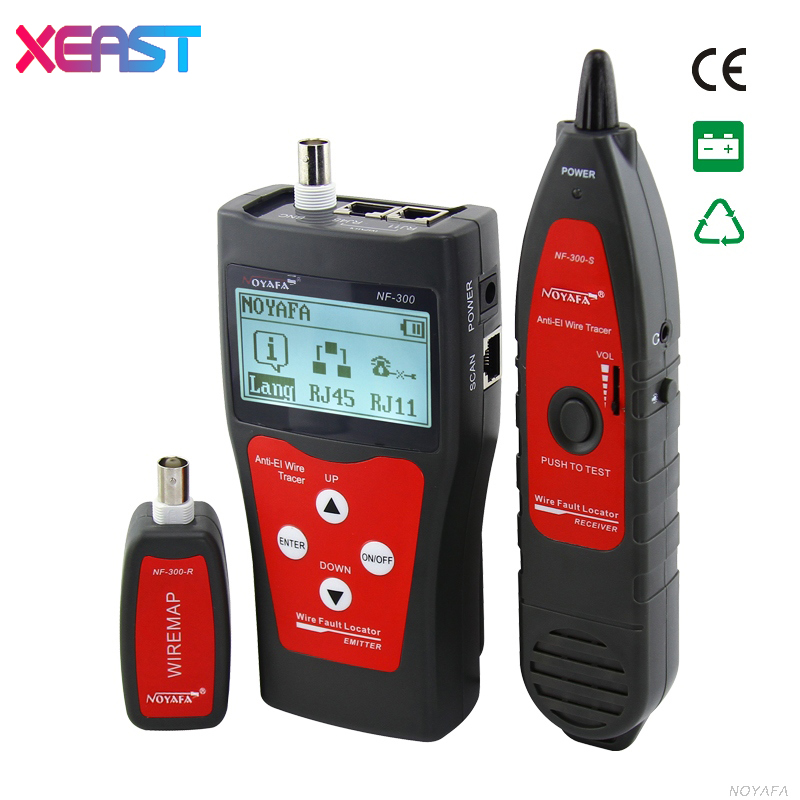 XEAST NOFAYA NF-300 tester RJ45 LCD cable tester Network monitoring wire tracker without noise interference