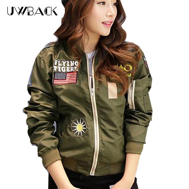 1a7f0eba1ca Uwback 2017 New Brand Bomber Jacket Women Plus Size Baseball Jacket Women  Chaquetas Mujer Patch Designs Outwear Coat CBB124