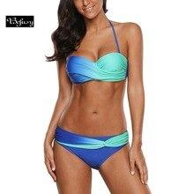 fd58dadf4434 Befusy 2018 nuevo Bikini caliente conjunto Push Up mujeres verano playa ropa  de baño dos piezas acolchado traje de baño cintura .