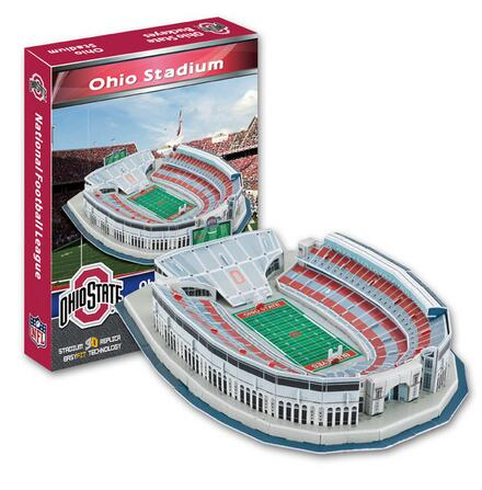 Candice guo 3D puzzle DIY toy paper building assemble hand work game model Baseball ohio state buckeyes stadium baby gift 1set 1 32 diy 3d supermarine spitfire ixc type fighter plane aircraft paper model assemble hand work puzzle game diy kid toy