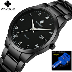 2018 Full Black Business Wristwatches Men Watch Top Brand Luxury fashion Male Watch Clock