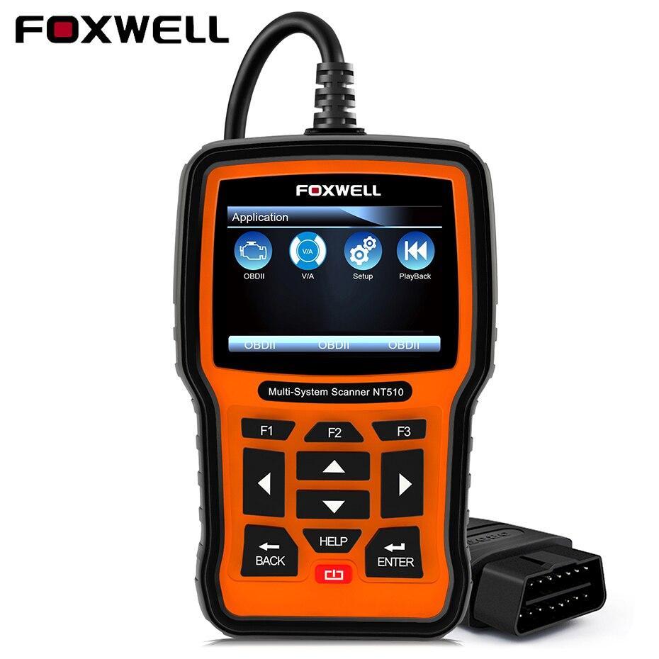 US $159 0  Foxwell NT510 for BMW ABS SRS Airbag OBD2 for BMW E46 Mini Rolls  Royce VW Audi Skoda Car Diagnosis Detector Diagnostics Tool VAG-in Engine