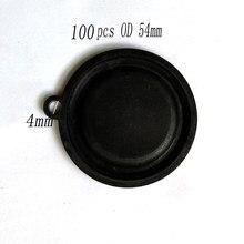 Válvula de conexión de Gas y agua, accesorio de diafragma de presión para calentador de agua de 54mm OD, 100 Uds., película de agua, membrana Tympanic