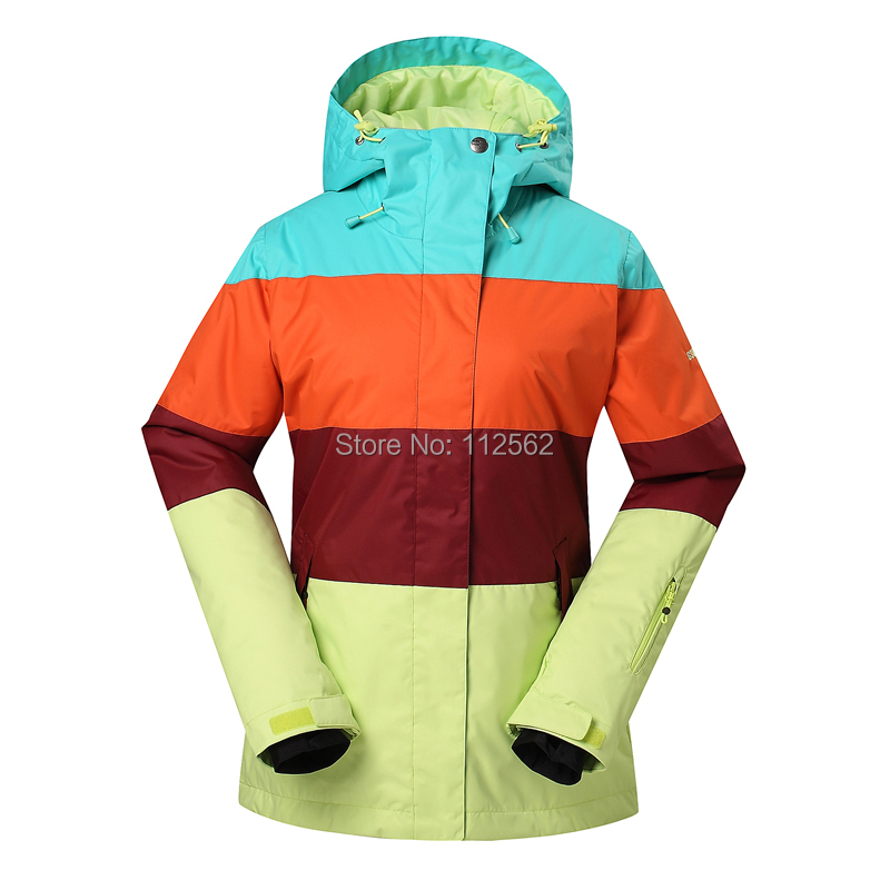 Gsou veste de ski femmes hiver extérieur imperméable veste de snowboard vêtements de ski vêtements de neige - 5