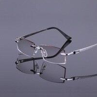Spectacle Frame No Frame Male Pure Titanium Super Light Myopia Glasses Frame Wholesale R819 Oculos De