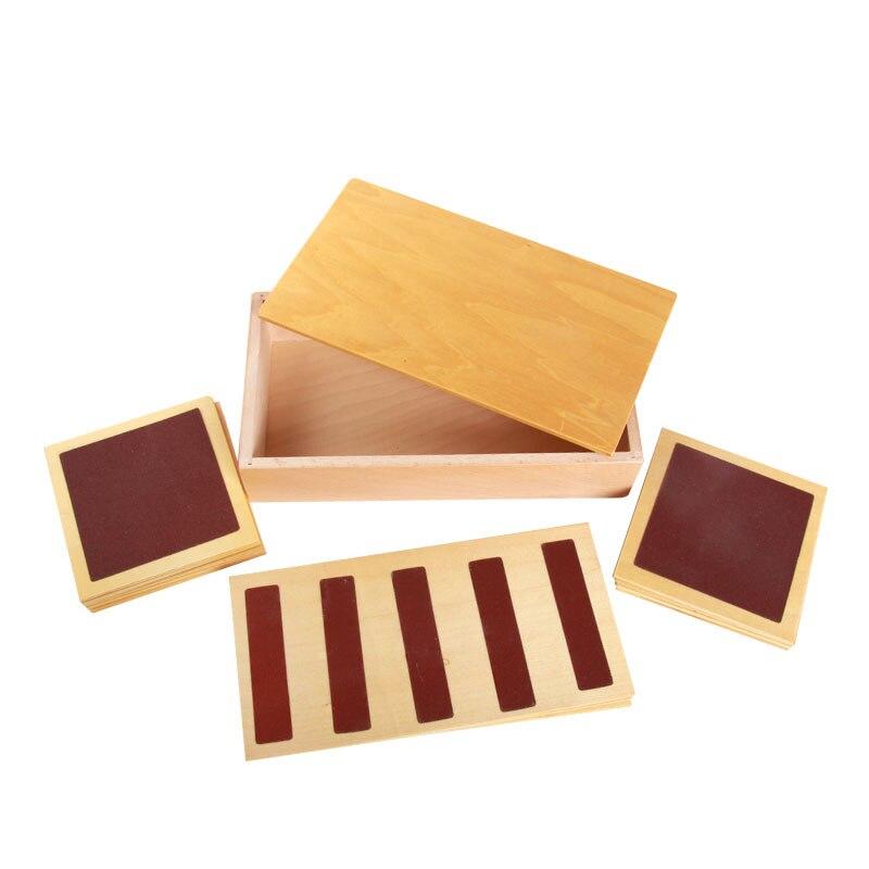 Montessori matériaux Montessori jouets rugueux et lisses tactile planches Montessori Brinquedo Educativo jouets d'apprentissage pour enfants C226T