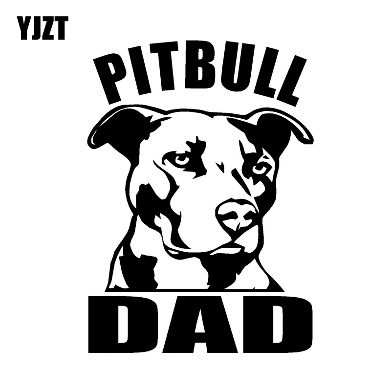 Yjzt 10cm14cm Pitbull Dad Cool Car Vinyl Decal Sticker Personality