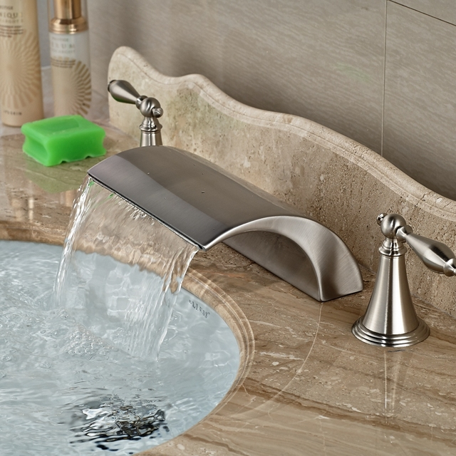 Wholesale And Retail Brand NEW Roman Waterfall Brushed Nickel - Wholesale bathroom fixtures
