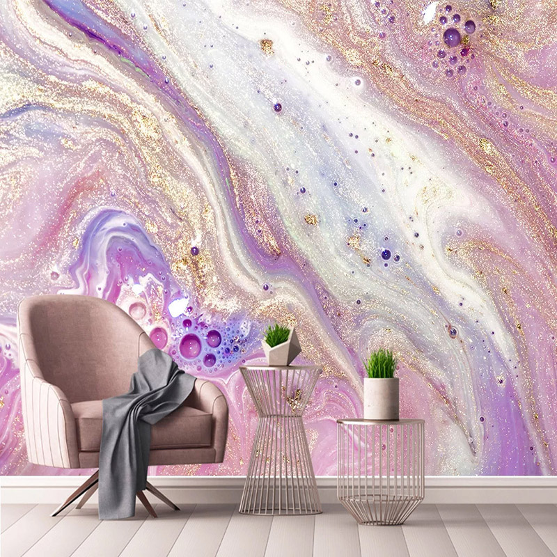 Photo Wallpaper Modern Simple 3D Abstract Wavy Golden Marble Murals Living Room TV Background Wall Home Decor 3D Art Wall Papers