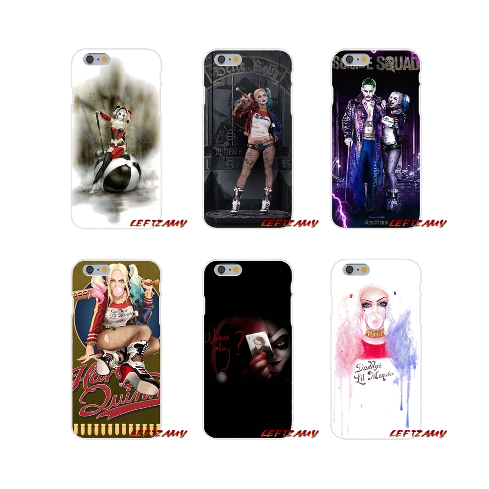 Transparent TPU Bag Case For Xiaomi Mi6 <font><b>Mi</b></font> 6 A1 Max Mix 2 5X 6X Redmi Note 5 5A 4X 4A <font><b>A4</b></font> 4 3 Plus Pro Suicide Squad Harley Quinn image