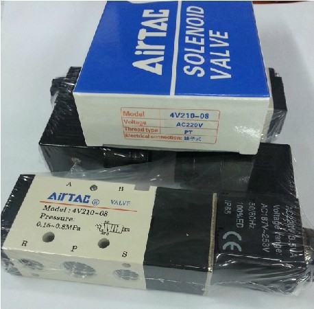 цена на NEW Taiwan Airtac Original authentic Solenoid Valve, Pneumatic Control Valve 4V210-08 AC220V