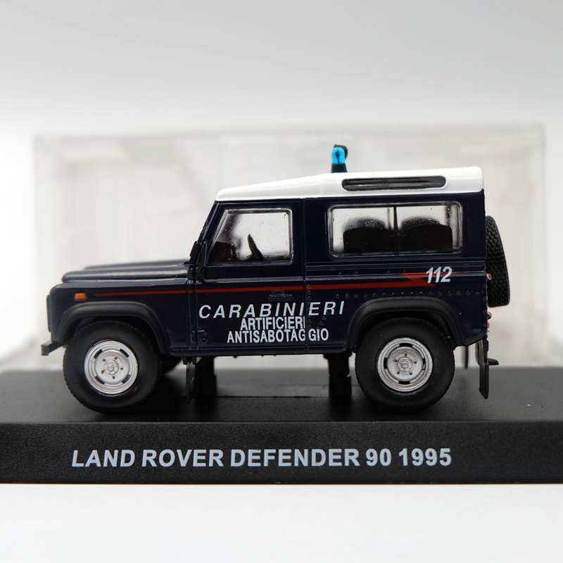 Grani & Partners 1:43 Land Rover Defender 90 1995 Carabineri blue Toys Car Model Limited Edition Collection Diecast ...