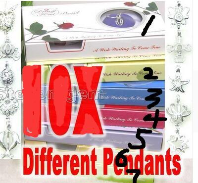 Livraison Gratuite>>>>> new hot VENTE En Gros 7 différents pendentif Envies Collier de Perles Cadeau ensemble boîte