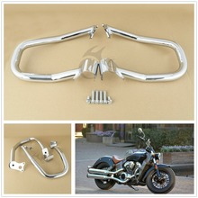 Chrome Engine Guard Highway Crash Bar Kit For Indian Scout 2015-2018 Scout Sixty 2016-18 Bobber 18 Repl. 2881756-156 chrome steel driver backrest support for indian scout sixty 2016 2017 2018 scout sixty motorcycle