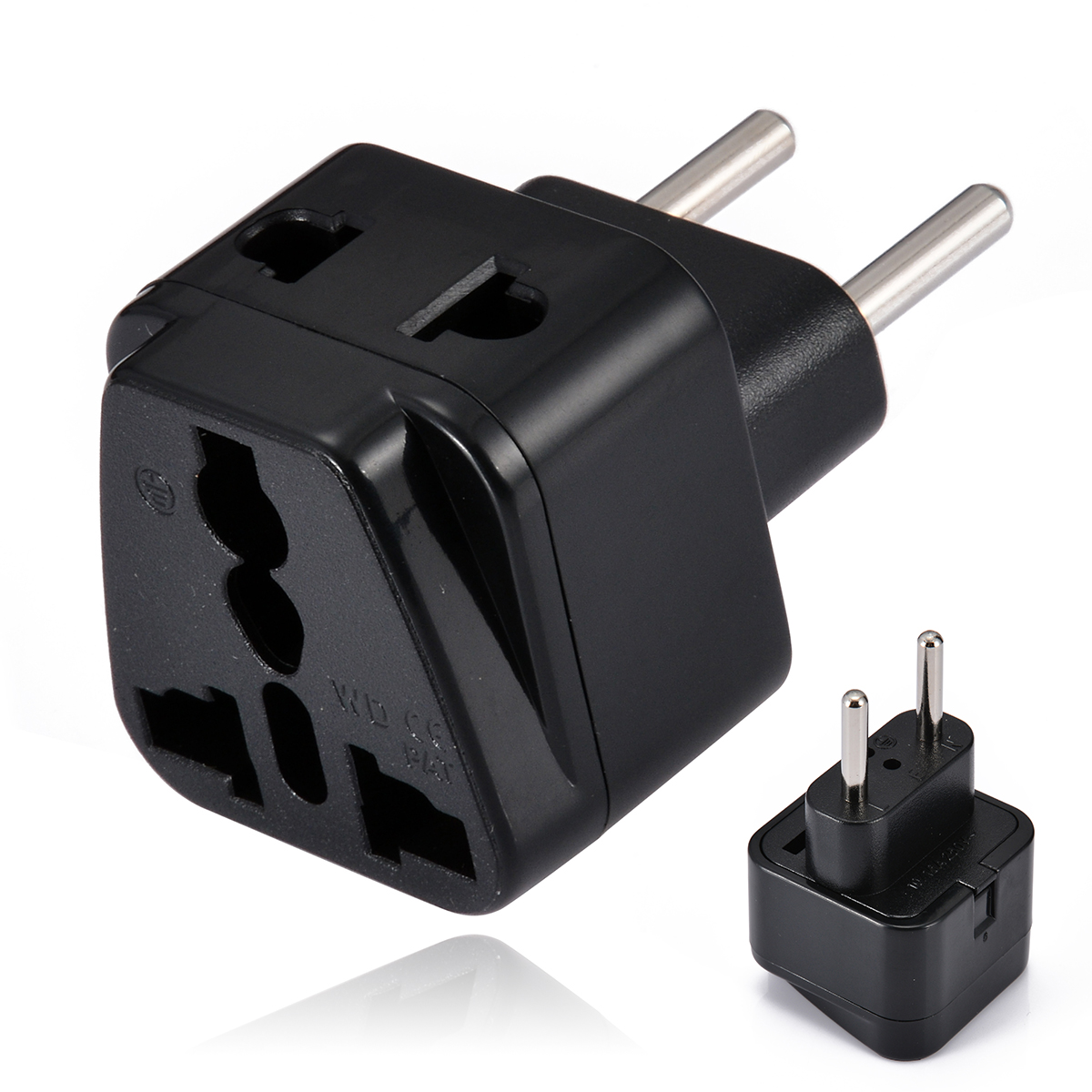 Mayitr 1 to 2 UK/US/EU/AU Outlet to EU/Brazil/Israel Splitter Plug Protable Travel EU Wall Adapter Charger for Electrical Plug