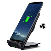 Qi Wireless Charger For Samsung Galaxy S8 S8 Plus S6 S7 Edge Note 5 With Fan