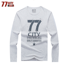 77City Killer Hot Sale New Fashion And Casual Spring And Autumn For Man Real Cotton O-Neck Comfortable Three Colors Select LT77