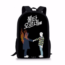 2019 Children School Bag BTS Schoolbag Girls Bookbag Kids Primary Backpack Teenager Travel Rucksack(China)