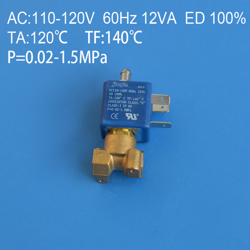 1/8 8.5mm AC110V-220V Coffee machine solenoid valve coil Electric Solenoid Valve Normally Closed N/C Water Inlet Flow Switch