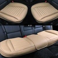 Кожаный чехол для автомобильного сиденья с нескользящей 3D универсальной подушкой подходит для большинства автомобильных аксессуаров для