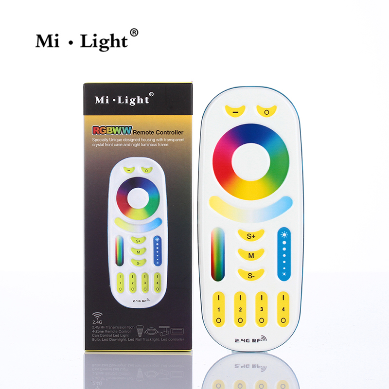Milight <font><b>FUT092</b></font> RGB+CCT Remote controller 2 in 1 Full touch 4-zone group control for Mil.ight led bulb series image