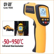 RZ инфракрасный термометр тепловизор Ручной цифровой электронный наружный Бесконтактный лазерный гигрометр пистолет ИК термометр