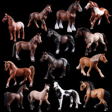 12 Optional Horse Wild Animal Model solid simulation White Action Anime Figures Toys for childrens Gift .