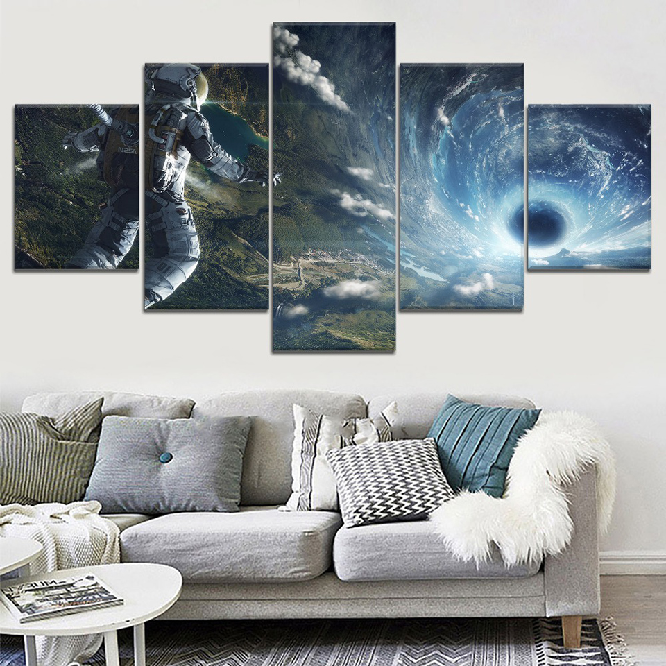 5-Piece-HD-Print-Large-Poster-Astronaut-Space-Black-Hole-Cuadros-Paintings-on-Canvas-Wall-Art (1)