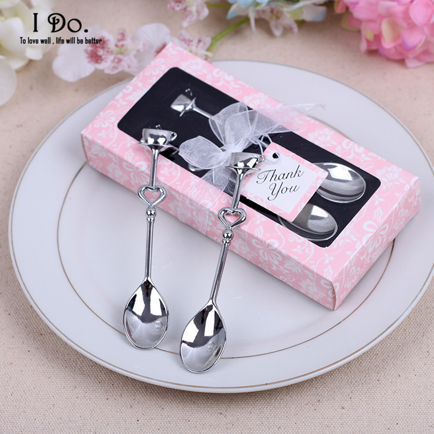 Wedding Gifts For Couples: Free Shipping Couple Coffee Spoon Wedding Favors And Gifts