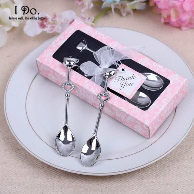 Engagement Party Gift Ideas: Free Shipping Couple Coffee Spoon Wedding Favors And Gifts