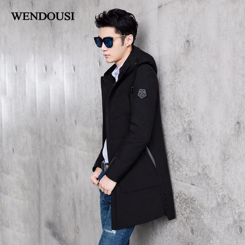 WENDOUSI Thick Down Parka Men Winter Jacket Big Size Duck Down Jackets For Men Parkas Coats Warm Fashion Hooded Male HS1999