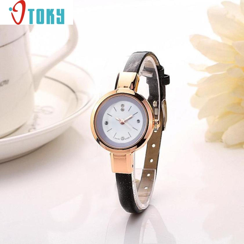 Hot Sales Women Fashion 1PC Lady Round Quartz Analog Bracelet Watch Gift WristWatches 80710 women s fashion analog quartz bracelet watch orange bronze multi color 1 x 626
