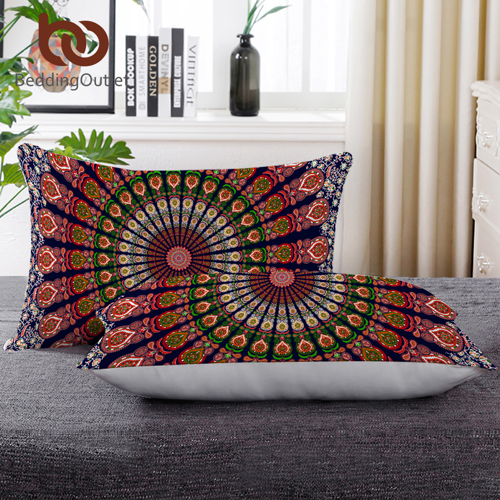 Garden Pots & Planters Beddingoutlet Sleeping Down Alternative Pillow Mandala Bohemia Printed Body Pillow For Hotel 50x75cm Boho Bedding Rest Almofada A Great Variety Of Goods