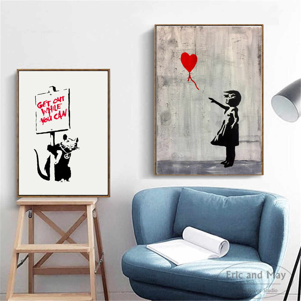 Banksy Life Funny Artwork Posters And Prints Wall Art Canvas Painting For Living Room Decoration Home Decor Unframed Quadros