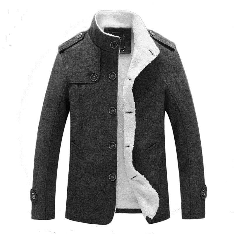 2018 зимняя Хлопковая мужская куртка теплая куртка для отдыха с воротником-стойкой плюс бархатное пальто сплошной цвет