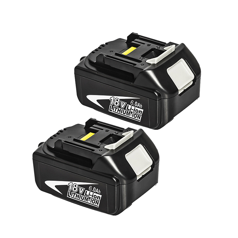 2 Pc 6.0Ah 18V Lithium-Ion Replacement Battery For Makita Bl1815 Bl1830 Bl1820 Bl1850 Bl1840 Bl1850B-2 Lxt-400 Bl1845 194205-32 Pc 6.0Ah 18V Lithium-Ion Replacement Battery For Makita Bl1815 Bl1830 Bl1820 Bl1850 Bl1840 Bl1850B-2 Lxt-400 Bl1845 194205-3