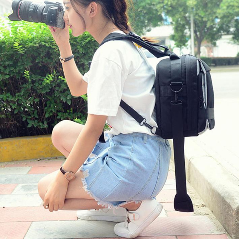 ФОТО Casual Nylon Travel Backpack Multifunction Shoulder Bag Women Men For Camera Canon EOS 1300D 760D 750D 700D 1200D 80D