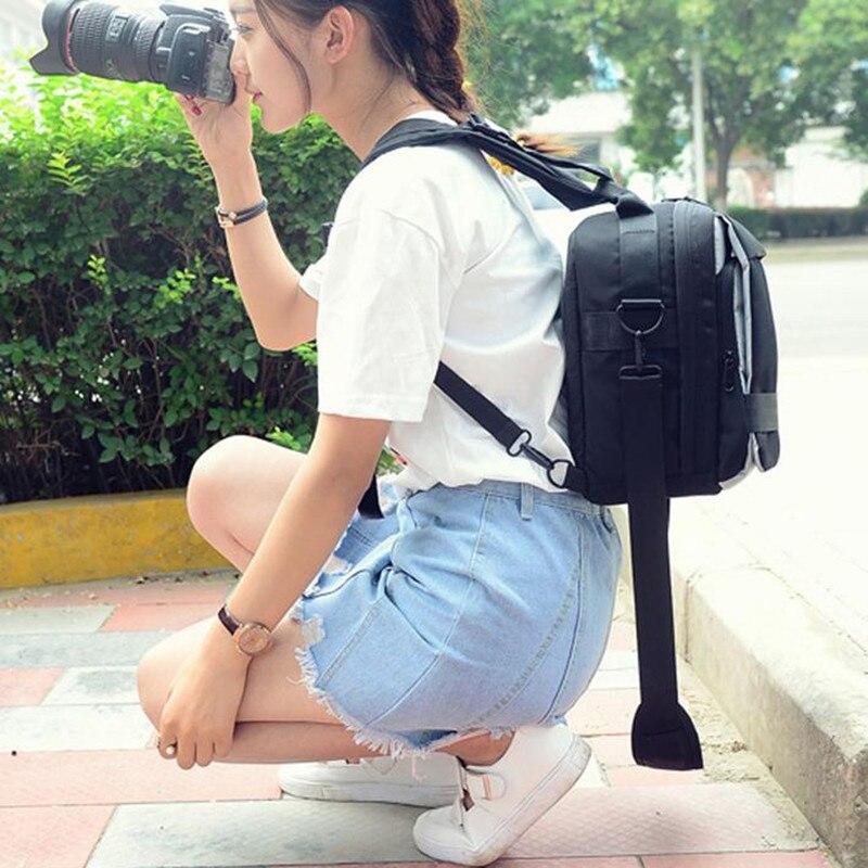 Décontracté Nylon voyage sac à dos multifonction sac à bandoulière femmes hommes pour appareil photo Canon EOS 1300D 760D 750D 700D 1200D 80D