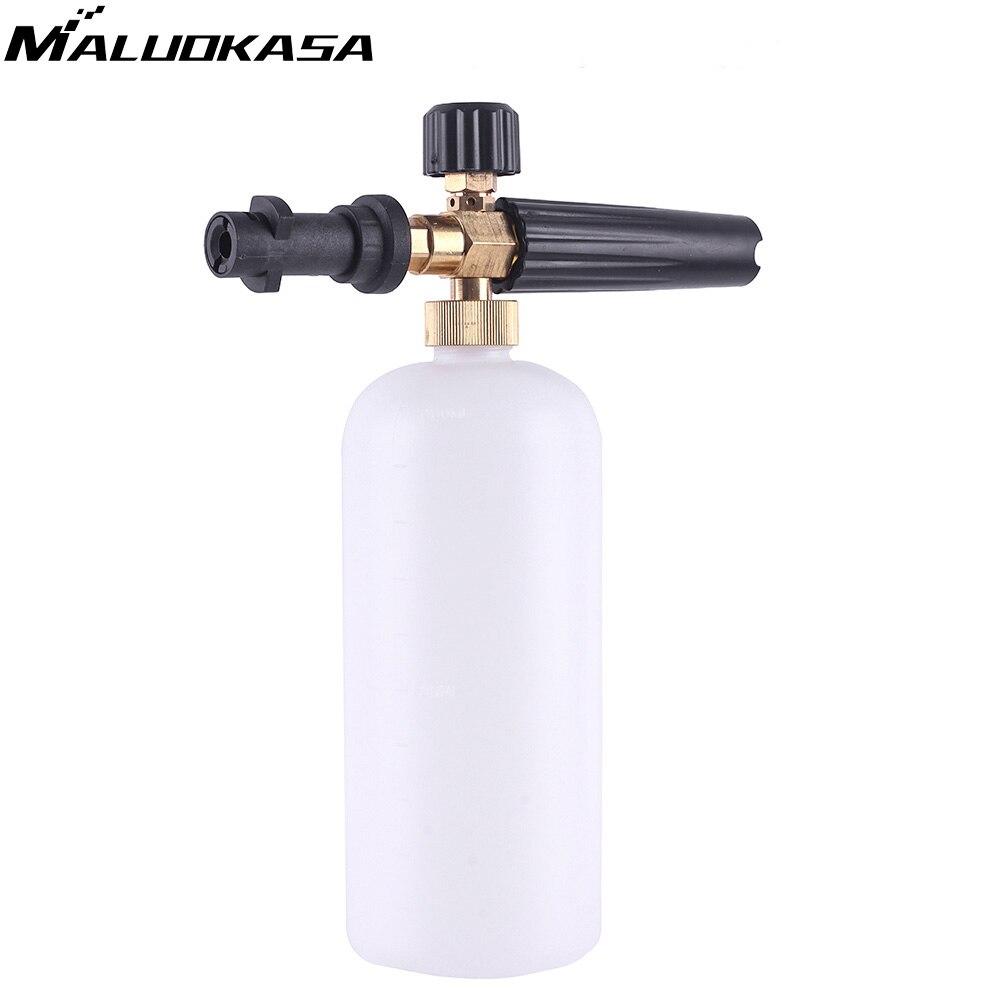 Alta Presión 1L jabón espuma generador Espumador pulverizador coche espuma pistola arma lanza de espuma de nieve para K2 K3 K4 K5 k6 K7 lavadora del coche