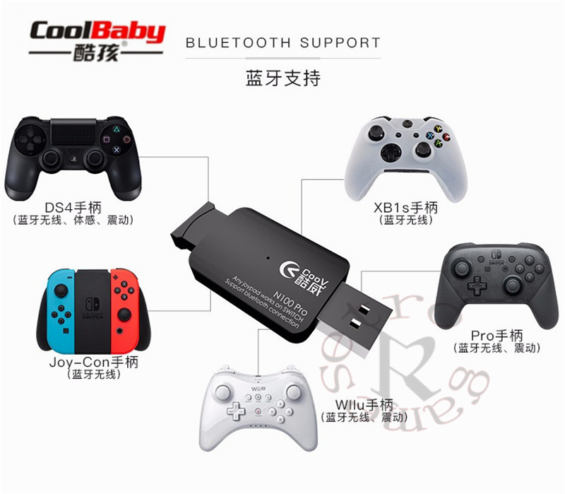 Coov N100 PRO for PS4 for Xbox One wireless controller Converter Adapter to Switch NS Wired GamePad Joystick Converter