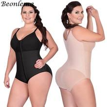Beonlema 여성 플러스 사이즈 바디 수트 섹시한 쉐이핑 속옷 엉덩이 리프팅 허리 트레이너 슬림 shapewear 엉덩이 향상제 tummy shapers